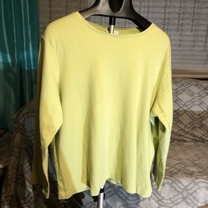 Light green long sleeve t-shirt